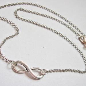 Infinity Necklace, Sterling silver ..